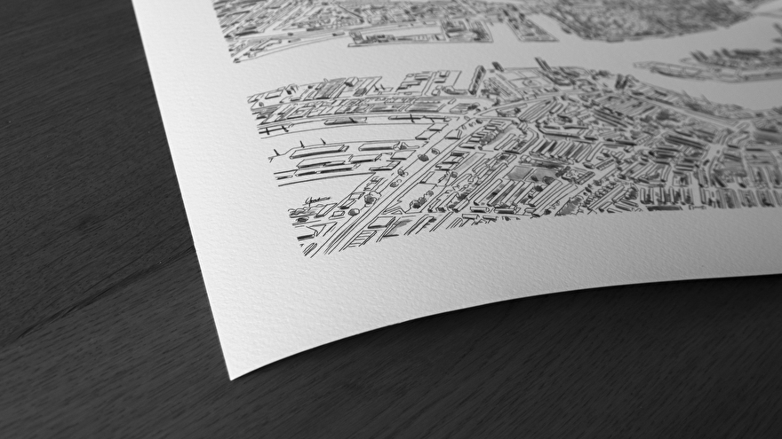 Giclee print op hoge kwaliteit fine art papier