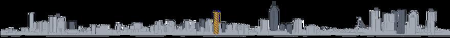 Tekening Toekomst van de skyline van Rotterdam: CoolTower