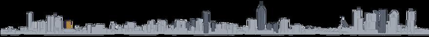 Tekening Toekomst van de skyline van Rotterdam: Metropool