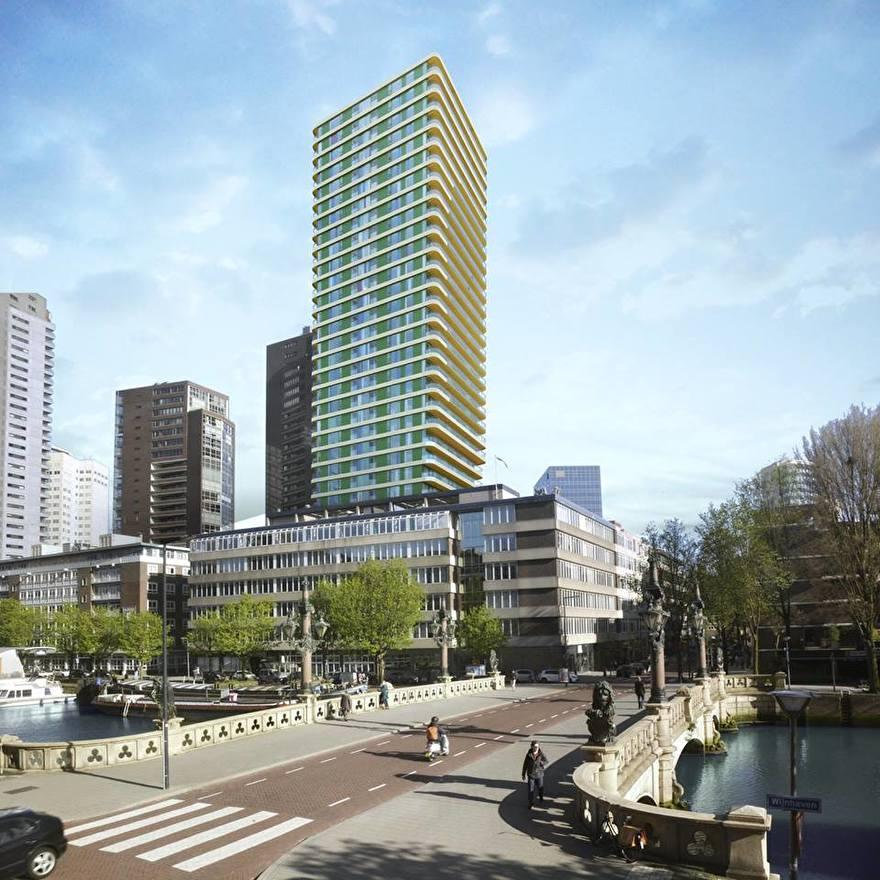 Toekomst van de skyline van Rotterdam: Up:Town