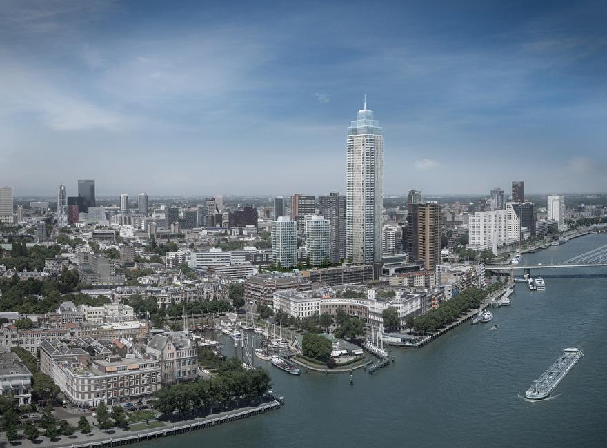 Toekomst van de skyline van Rotterdam: Zalmhaventoren