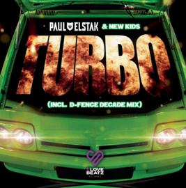 """7"""" Paul Elstak – Turbo D-Fence Decade Mix LIMITED GROEN VINYL (2021) ♪"""