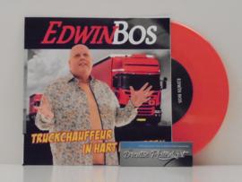 """7"""" Edwin Bos - Truckchauffeur In Hart En Nieren *ROOD VINYL* ♪"""