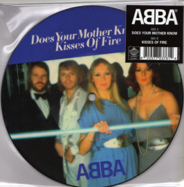 """7"""" Abba - Does Your Mother Know PICTURE DISC (2019) ♪"""