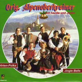 """7"""" Orig. Alpenoberkrainer - Jingle Bells / Hirten Polka *GROEN VINYL* ♪"""