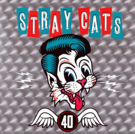 "12"" Stray Cats ‎– 40 - Rood Vinyl  ♪"