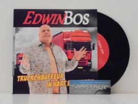 """7"""" Edwin Bos - Truckchauffeur In Hart En Nieren *ZWART VINYL* ♪"""