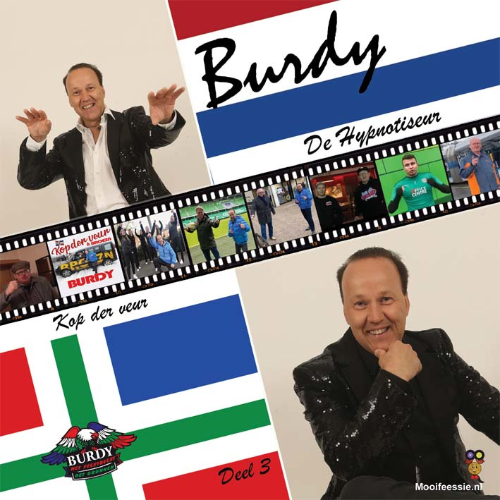 "7"" Deel 3 – Burdy – De Hypnotiseur / Kop Der Veur – Rood Viny (2021) ♪"