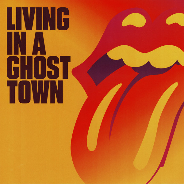"""10"""" Lp Rollings Stones - Living In A Ghost Town  ♪"""