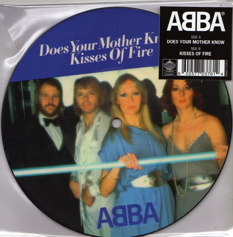"7"" Abba - Does Your Mother Know PICTURE DISC (2019) ♪"
