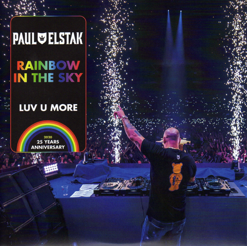 """7"""" Paul Elstak - Rainbow In The Sky (Zwart) (2020) ♪"""