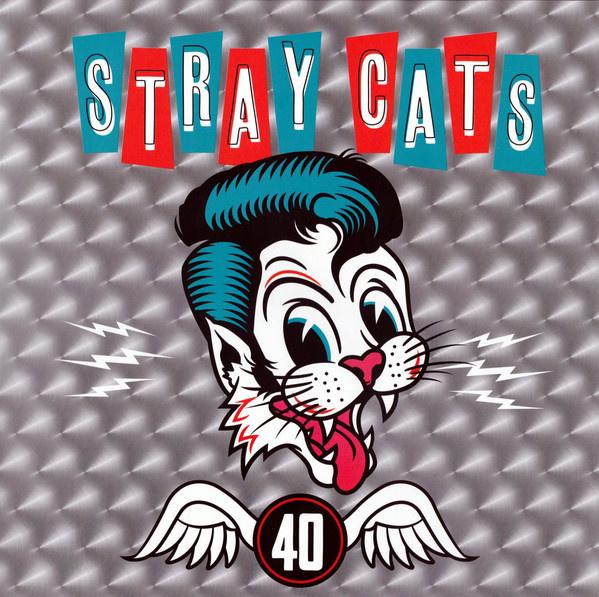 """12"""" Stray Cats – 40 - Rood Vinyl  ♪"""