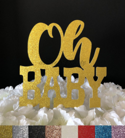 """Taart Topper Carton """"Oh Baby"""" (2)"""
