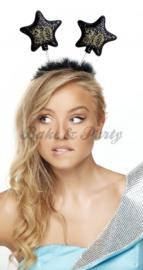 "Tiara ""30"" Zwart/Goud Glitter"
