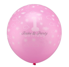 "Latex Ballonnen ""1st Birthday"" Roze"