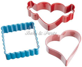 Wilton - Cookie Cutters Set - Valentine (3 stuks)