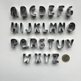 """Cutters """"Alfabet"""" Aluminium"""