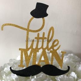 """Taart Topper Carton """"Little Man"""""""