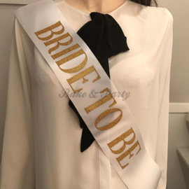 "Sjerp ""Bride to Be"" Wit/Goud (5)"