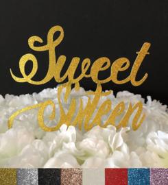 """Taart Topper Carton """"Sweet Sixteen"""""""