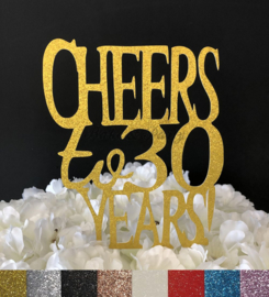 """Taart Topper Carton """"Cheers to 30 Years"""""""