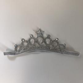 """Haarband """"Kroon"""" (Zilver)"""