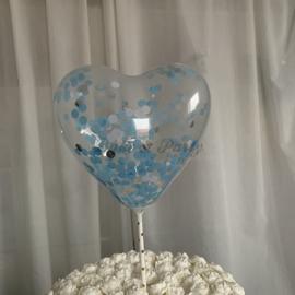 """Taart Topper """"Ballon"""" (3) Blauw"""