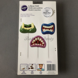 Wilton - Lollipop Mold - Monster Mouth
