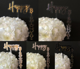 "Taart Topper Acryl ""Happy Birthday"" (9)"