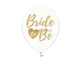 """Latex Ballonnen """"Bride To Be"""" Transparant/Zilver"""
