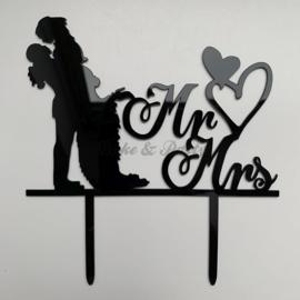 "Taart Topper Acryl ""Mr & Mrs"" (6)"