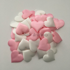 Decoratie Hartjes Mix Roze/Wit Medium