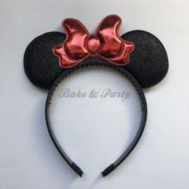"Diadeem ""Minnie Mouse"" (Zwart/Rood)"