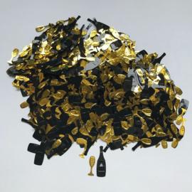 """Decoratie Confetti """"Champagne"""" Zwart/Goud"""