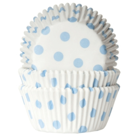 House Of Marie - Polkadot White / Babyblue