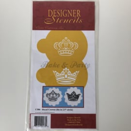 "Designer Stencils - ""Royal Crowns"" (2 stuks)"