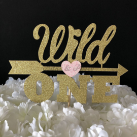 "Taart Topper Carton ""Wild One"""