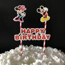 "Taart Topper Carton ""Happy Birthday"" (10)"