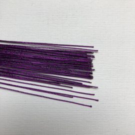 Culpitt - Floral Wire 24 Gauge Metallic Paars (50 stuks)