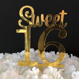 """Taart Topper Acryl """"Sweet 16"""" (2)"""