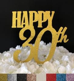 "Taart Topper Carton ""Happy 30th"" (2)"
