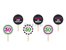 "Cupcake Toppers ""Thirty"""