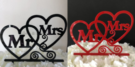 "Taart Topper Acryl ""Mr & Mrs"" (5)"