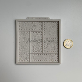 """Siliconen Mal """"Riveted Metal Plate"""""""