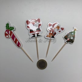 """Cupcake Toppers """"Kerst"""""""