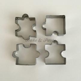 """Cutter """"Puzzelstukjes"""" (4 stuks)"""