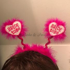 """Tiara """"Bride To Be"""" Wit-Roze"""