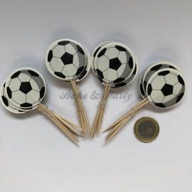 """Cupcake Toppers """"Voetbal"""" (2)"""
