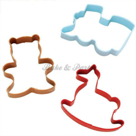 Wilton - Cookie Cutters Set - Homemade (3 stuks)