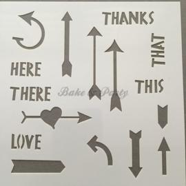 """Decoratie Stencil """"Pijlen"""""""